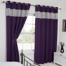 Blackout Purple Curtains Stunning Purple Blackout Curtains And Carla Diamante Eyelet
