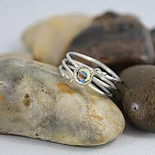 silver wire rings images Multi strand silver wire wrapped swarovski crystal ring jpg