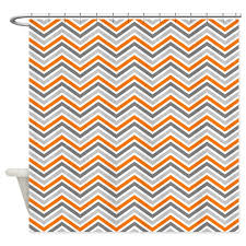Curtains Chevron Pattern Curtains Ideas Orange And Gray Shower Curtain Inspiring