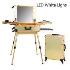 Makeup Artist Station Aliexpress Com Buy Gold Led White Lights Professional Makeup