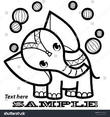 cartoon elephant balls perform circus elephant stock vector