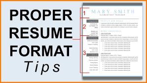 latest resume models proper resume format resume format updated