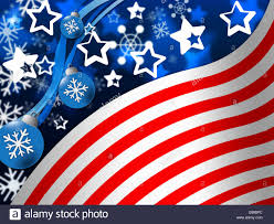 Meaning Of American Flag American Flag Background Meaning Snowing Winter And States Stock