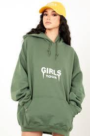 og girls tour hoodie olive u2013 sosorella