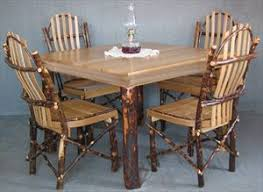 hickory dining room chairs amish hickory furniture rustic amish hickory furniture