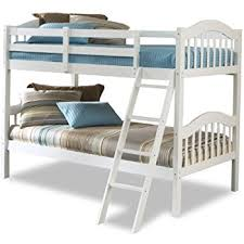 amazon com storkcraft caribou solid hardwood twin bunk bed