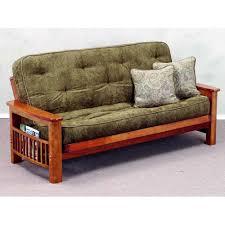 solid wood futon frame landmark wood futon frame magazine rack dark cherry dcg stores