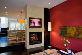 living room amazing present fireplace in the area mounted tv and