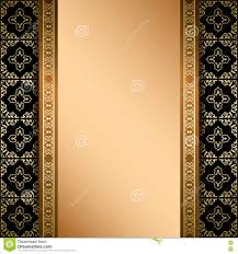 black and gold vector ornament on background with gradient stock
