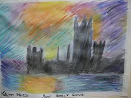 painting our monet inspired houses of parliament practical pages