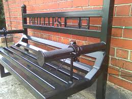 Lowes Patio Bench Furniture Custom Wrought Iron Bench For Your Garden Furniture