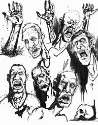 ian ruff bloggity blog blog zombie sketches 4 days until