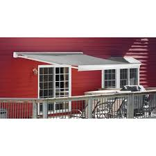 Menards Awnings Backyard Creations 12 U0027w X 10 U0027 Projection Motorized Retractable