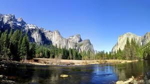 1366x768 mountains trees calming river desktop pc and mac wallpaper