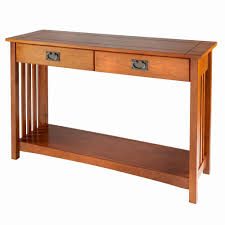 mission style console table mission style console table with drawers console tables ideas