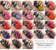 maybelline new york color show collection swatches and reviews