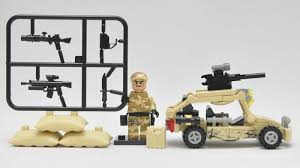 military jeep tan brick stop motion lego fake china qs set 11204 army cars youtube