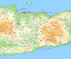 Map Of Crete Greece by Heraklion Map Crete Greece U2022 Mappery