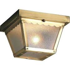 Low Ceiling Light Seattle Insulated Low Ceiling Light Antique Brass Glass