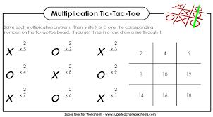 multiplication game tic tac toe