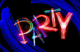 neon party neon party stock photo image of freezelight isolated 13963188