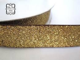 gold glitter ribbon gold glitter ribbon 5 yards metallic sparkle glitter brown