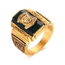 cheap mens rings images Fashion mens rings gold color stainless steel 1973 walton tiger jpg