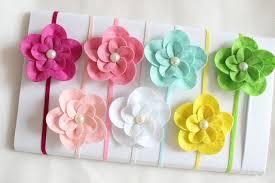 felt flower headband felt flower headband pearl flower on elastic headband fit