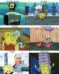 Spongebob Meme Pictures - american horror story has sparked a hilarious new spongebob meme mtv