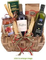 gift baskets with wine organic pasta wine gift basket