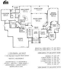 Four Bedroom House Plans One Story Home Design One Story House Plans 4 Bedroom Inside 79 Inspiring