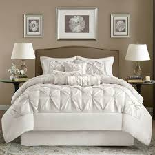 park laurel ruched white king 7 bed in a bag tufted