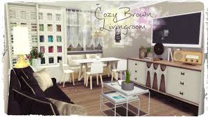 sims 4 cozy brown livingroom build u0026 decoration youtube