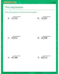 the long division u2013 printable division worksheet for kids u2013 math