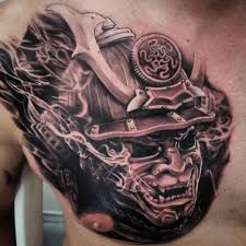 21 best samurai chest tattoos u0026 designs