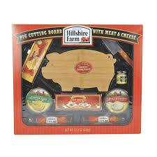 hillshire farms summer sausage hillshire farm deluxe pig cutting board set with meat cheese