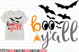 halloween graphic art boo y u0027all halloween silhouette svg cutting files digital clip art