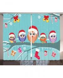 Owl Drapes Christmas Shower Curtain Cute Owl Family Tree Print For Bathroom