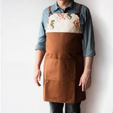 Designer Kitchen Aprons by Robust Work Kitchen Apron In Cotton Canvas U0026 Leather Handmade