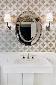 powder room wallpaper ideas powder room traditional with pedestal