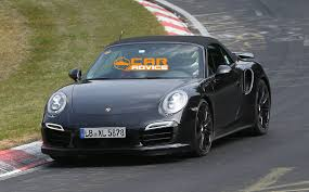 porsche turbo convertible porsche 911 turbo convertible spied lapping nurburgring photos