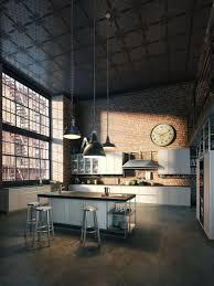 Industrial Loft Decor by Soleil Matinal Entrant Par De Belles Grandes Fenêtres Pour