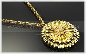 kerala gold jewellery design pendant 24