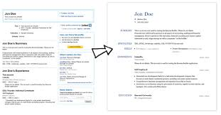 resume linkedin create a resume from your linkedin profile