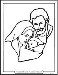jesus family coloring coloring