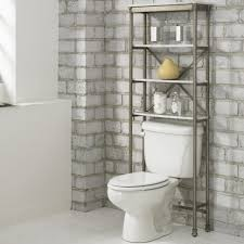Modern Bathroom Shelving by Bathroom Tall Espresso Open Storage For Toilet And Contemporary