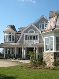 exterior house colors victorian with gray wood shingle outdoor