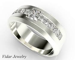 jewelry platinum rings images Men 39 s princess cut diamond wedding band vidar jewelry unique png