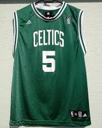 nba boston celtics jersey garnett 5 adidas xl age 18 20 green