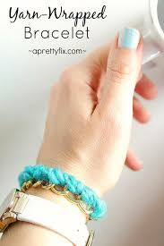 hand make bracelet images Yarn wrapped bracelet a pretty fix jpg